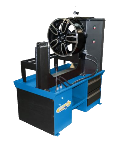 Bush Tyres wheel straightening machine