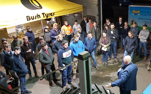 Lincolnshire Young Farmers at Bush Tyres Agricultural night aided by Michelin