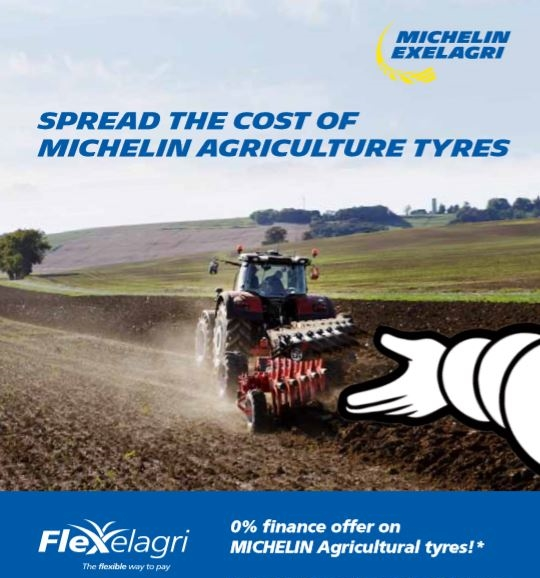 2 years interest free credit on Michelin Agricultural tyres with Flexelagri Finance | Bush Tyres