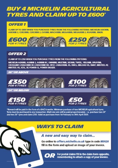 Michelin Spring 2020 up to £600 Cash Back Offer | Bush Tyres