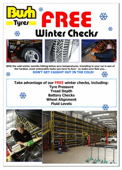 Bush Tyres Free Winter Check