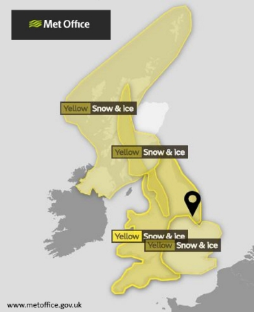 Met Office Yellow Warning