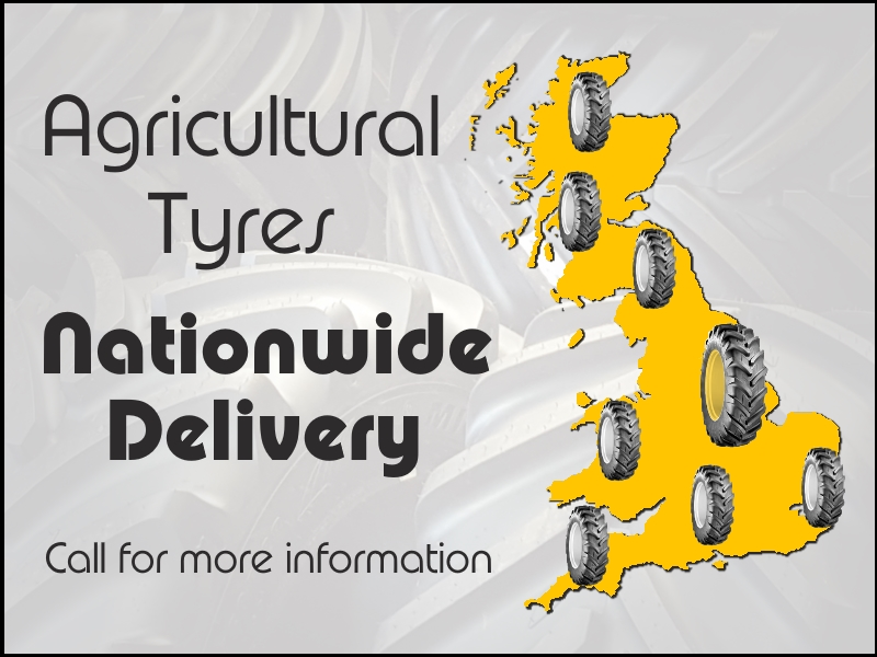 Agricultural Tractor & Implement Tyres - Mainland UK Delivery | Bush Tyres | Call 08455 214222