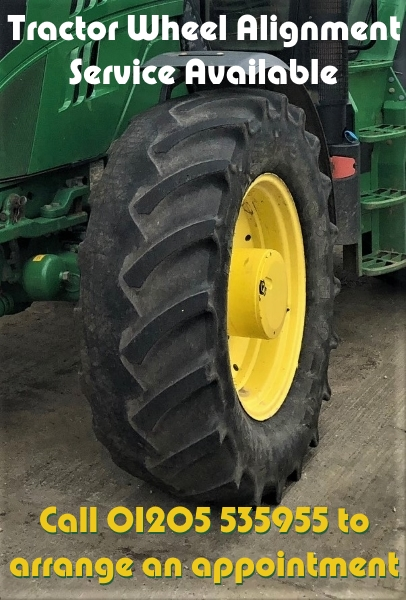 Tractor Wheel Alignment | Bush tyres | Call 01205 535955