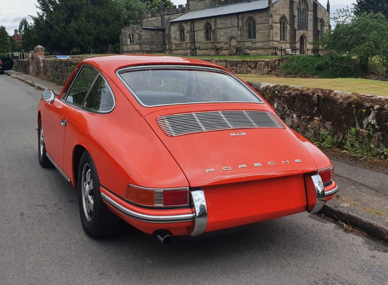 Porsche 912E view from rear