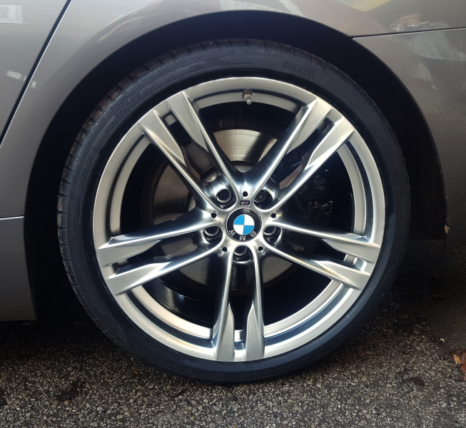 Powder coated Shadow Chrome  Alloy Wheel